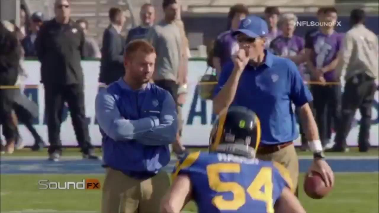 'That guy looks pretty good playing QB for you!'  Rams head coach Sean McVay on Jimmy G. #NFLSoundFX via @NFLFilms https://t.co/ciJSEHqmeD