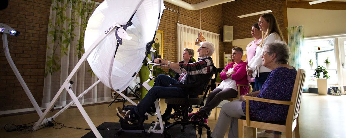 Researchers have invented a new device, which pairs Google Street View with a stationary bike, that is helping people suffering from dementia to remember. We were fortunate to get to make a film about this invention & a family trying it out. @google @epic