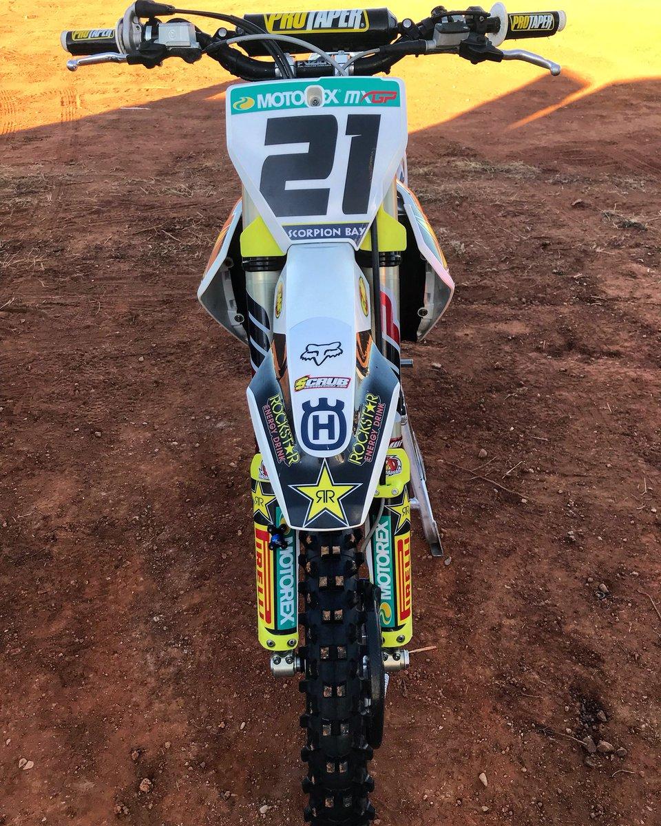 My new FC450 #21 @Husqvarna1903 @Rockstar_Racing  @rockstarenergy https://t.co/eZjxI1whQI