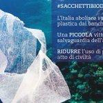 #sacchettibiodegradabili, per noi ridurre la #Plastica è segno di civiltà https://t.co/XPnhbJINuo