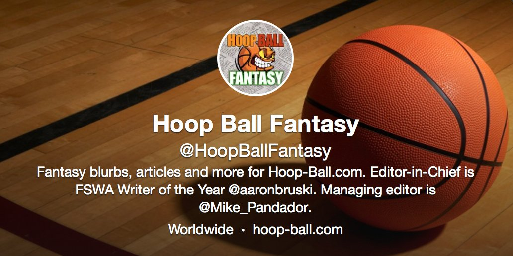 For our real-time news and information feed, including award winning fantasy analysis, breaking injury news, articles and more -- follow @HoopBallFantasy! https://t.co/b9Ajo6YRjk