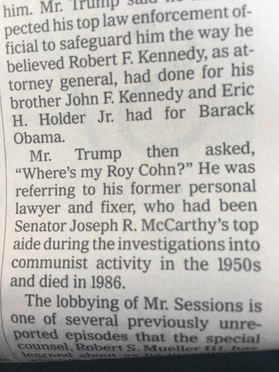 """""""Where is my Roy Cohn""""???!?? https://t.co/cW80lY426K"""