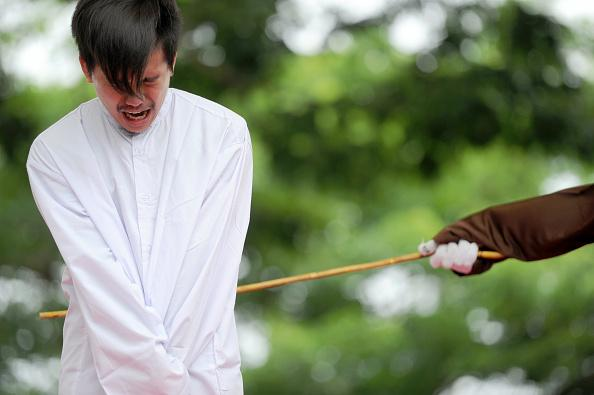 A Christian man was publicly whipped for selling alcohol in Muslim Indonesia