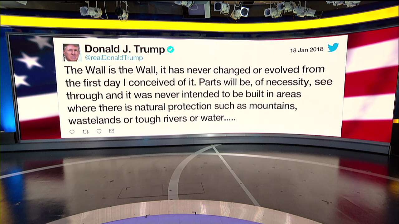 Moments ago, @realDonaldTrump tweeted about border security. https://t.co/2NE8MdyGNa
