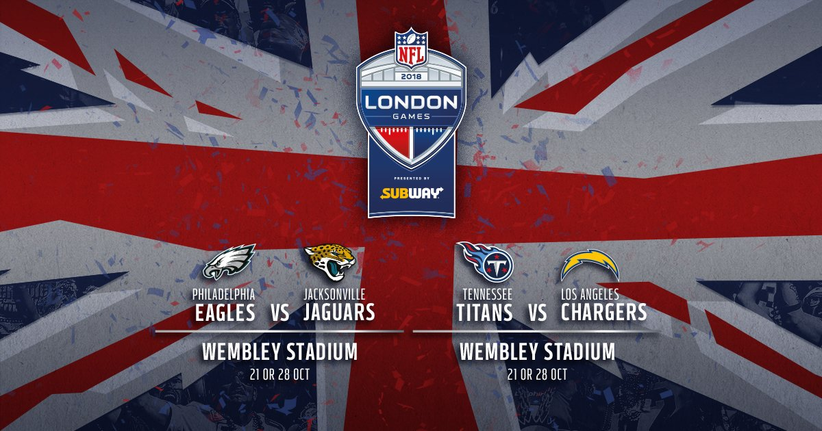 🚨THE ANNOUNCEMENT YOU'VE BEEN WAITING FOR🚨  Here is the ticket info for #Wembley's 2018 @NFLUK games 🎟️https://t.co/VKPVBqUABM https://t.co/yN1s0Lg2Fx