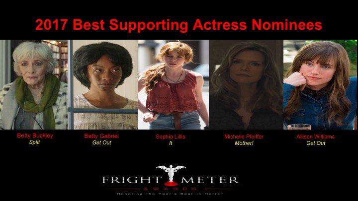 2017 Best Supporting Actress Nominees: @BettyBuckley , @thebettygabriel , @sophiajlillis , #michellepfieffer, #allisonwilliams https://t.co/TnS7dq0HcB
