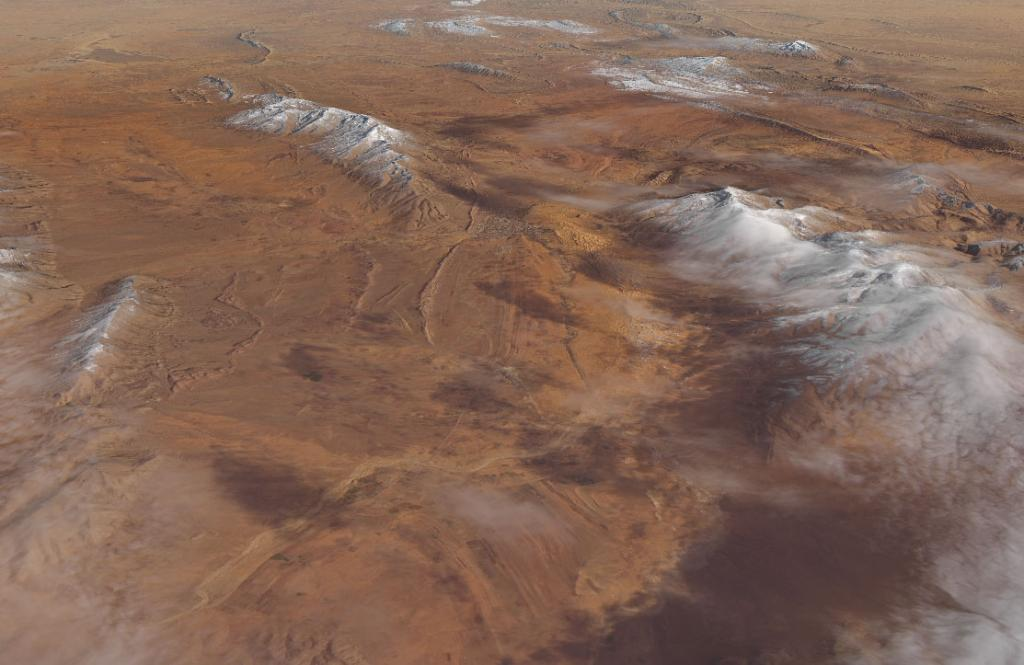 For the second time in three years, snow draped the desert peaks near the northern Algerian town of Aïn Séfra. Our satellite data helped capture the uncommon event on Jan 8. Take a look: https://t.co/bob74tTFfq https://t.co/YG7OsN2c83