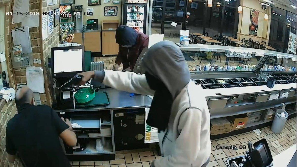 PHOTOS: Armed robbery at Midfield Subway