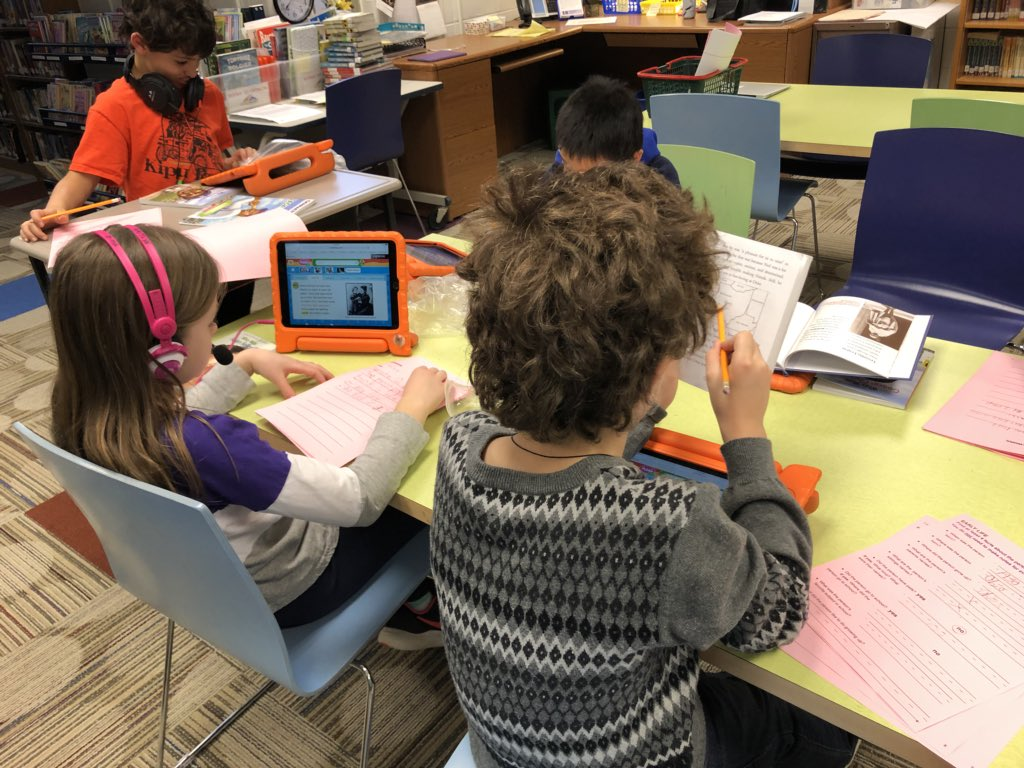 test Twitter Media - Students in @Wescott2W are using print and digital resources to research a famous American. #d30learns @WescottLMC https://t.co/iNNBRbVJP7