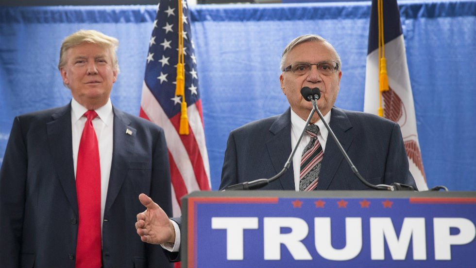 Arpaio accuses Flake's anti-Trump speech of being 'a borderline treason-type situation' https://t.co/g824dzk6Sq https://t.co/TaIpsDij5V