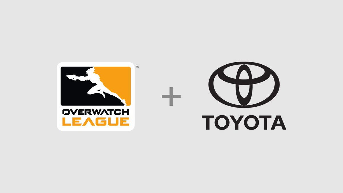 RT @overwatchleague: We're excited to welcome Toyota as the newest partner for the Overwatch League! https://t.co/wGrbafCLS1