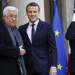 Macron said to tell Abbas not to rule out Trump peace plan