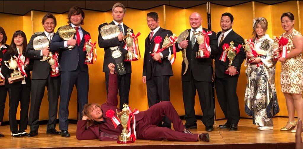 Tokyo Sports Celebrates Its Awards Ceremony For The Best of 2017 #AJPW #BJW #DragonGate #HidekiSuzuki #IoShirai #JurinaMatsui #KatsuyoriShibata #KazuchikaOkada #KennyOmega #NJPW #ShujiIshikawa #Stardom #Suwama #TetsuyaNaito #WrestlingNews #YAMATO #YumaAoy https://t.co/AvI1VsFQ2k https://t.co/HftzMP4blU