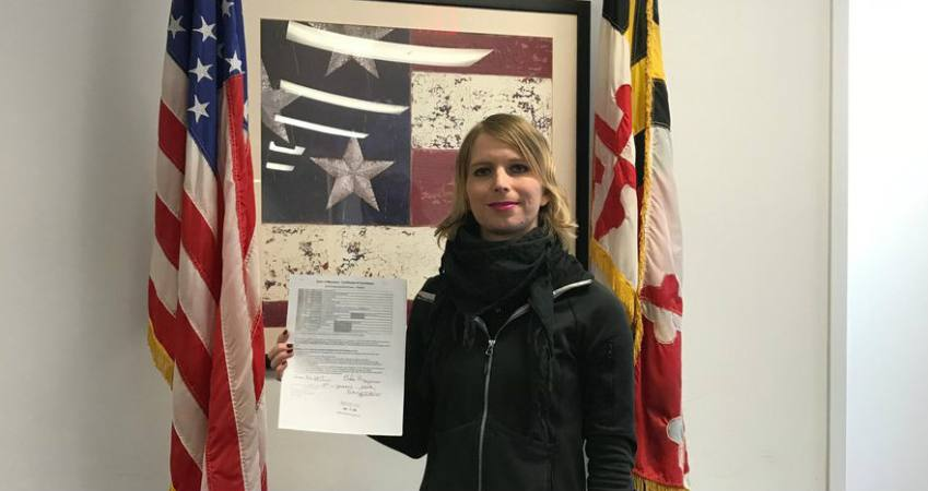 RT @AP: Chelsea Manning officially files for US Senate race in Maryland. https://t.co/5c7nHiKnxT