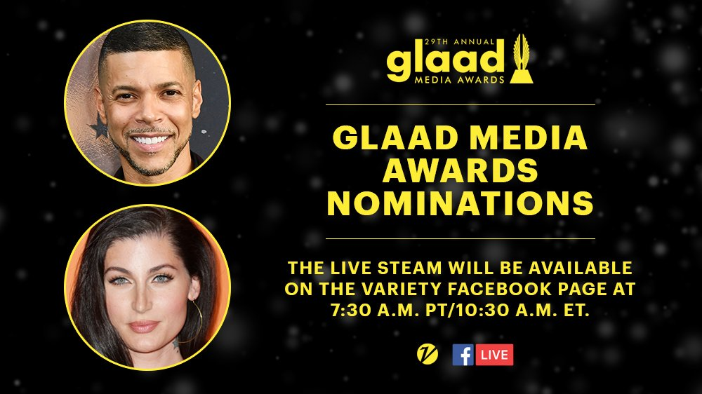 Watch the @GLAAD Awards Media Nominations live tomorrow on @Variety