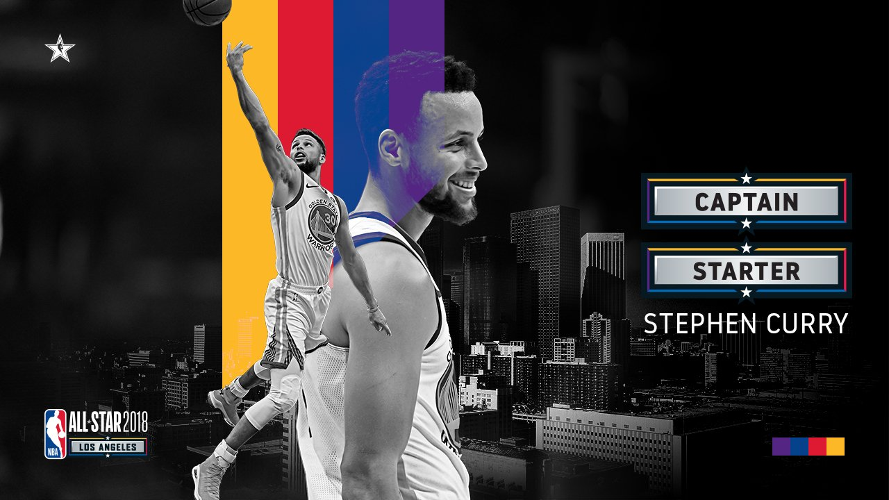 Thank you #DubNation. Your votes helped make @StephenCurry30 an #NBAAllStar captain!  #DubNation https://t.co/yAJE7sNn13