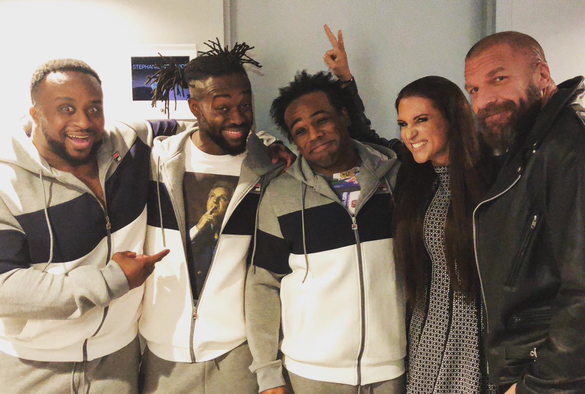 So excited to be at @FallonTonight with @TripleH @XavierWoodsPhD @TrueKofi & @WWEBigE! #TuneIn tonight at 11:35pm EST on @nbc! https://t.co/SoYIZ6WCDy