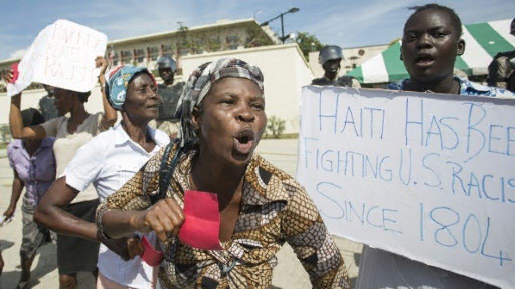 Haitians protest Trump 'shithole' comment