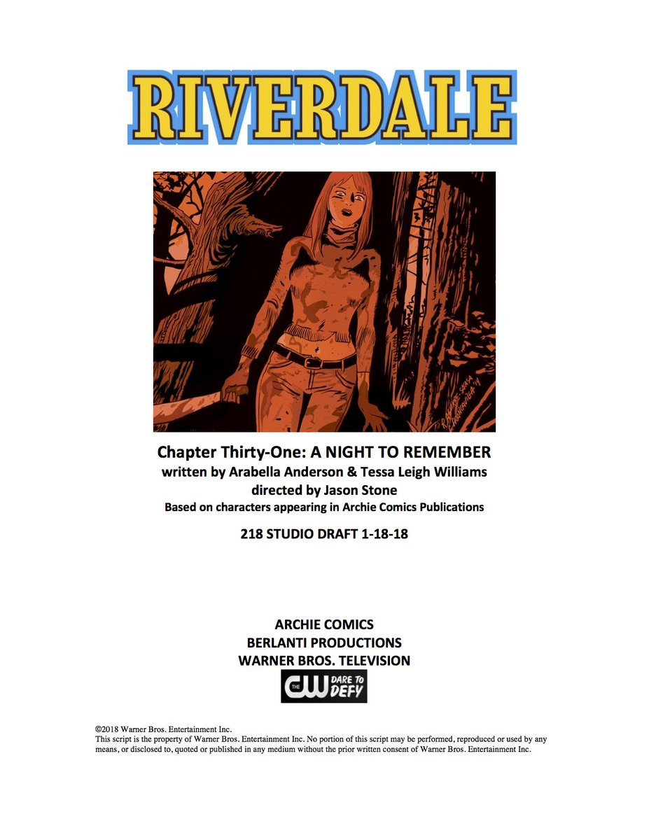 RT @WriterRAS: Guys, you will NOT believe this episode of #Riverdale… #neverforget https://t.co/HP6TRB3jVE