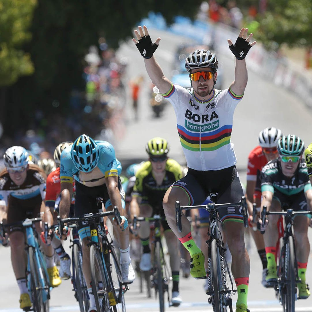 test Twitter Media - 🌈 THAT'S SAGAN SENSATIONAL 🌈 The Slovakian master has made history as the first man wearing the iconic rainbow jersey to claim a stage victory in the Santos Tour Down Under.  https://t.co/E1UGA3zTm9  #tdu #seesouthaustralia #petersagan #cycling https://t.co/Fscr4izcAy