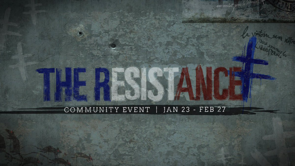 The Resistance is in search of new recruits. Prepare for Call of Duty®: WWII - The Resistance DLC1 with a new in-game event starting Jan. 23:  ✔️ Free Resistance Division ✔️ New weapons ✔️ Demolition ✔️ New Resistance gear ✔️ 2XP playlists  ... and more! #CODWWII https://t.co/rcZSTJob6N