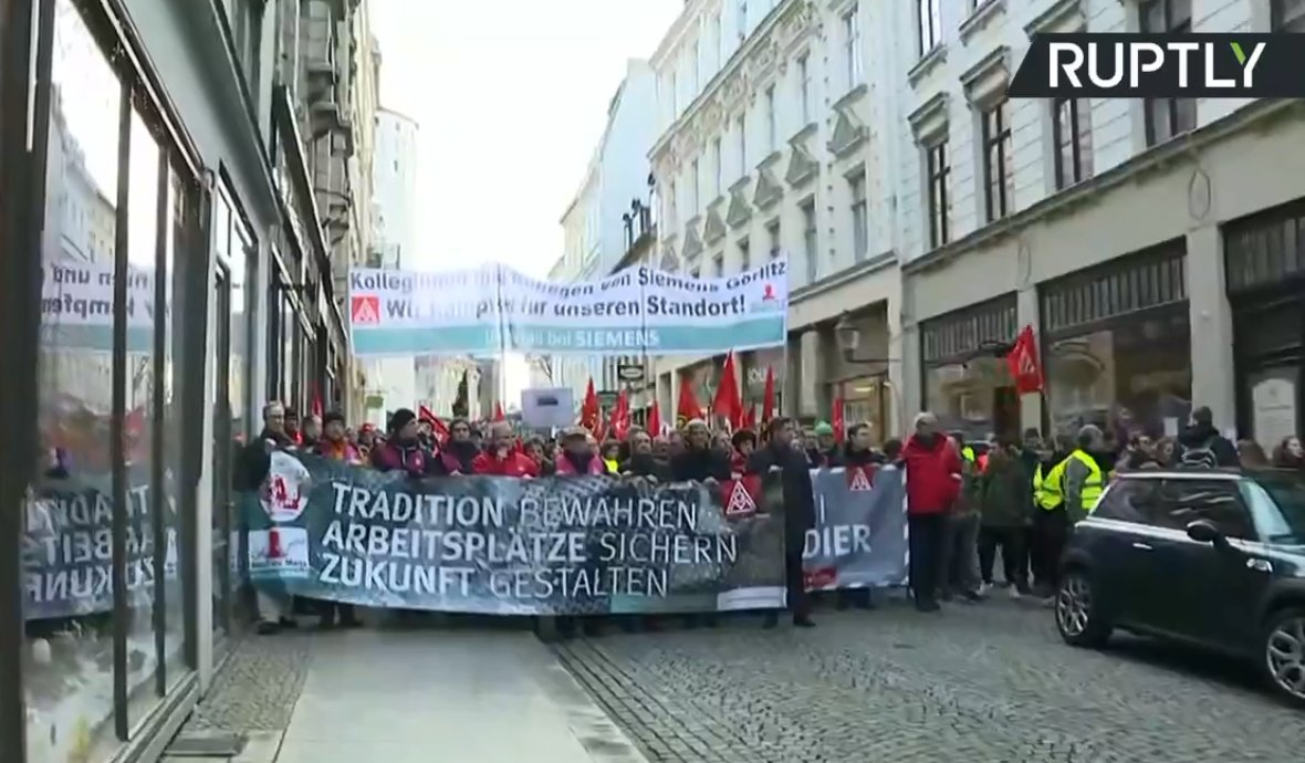 LIVE: March against closure of Siemens, Bombardier factories in Germany