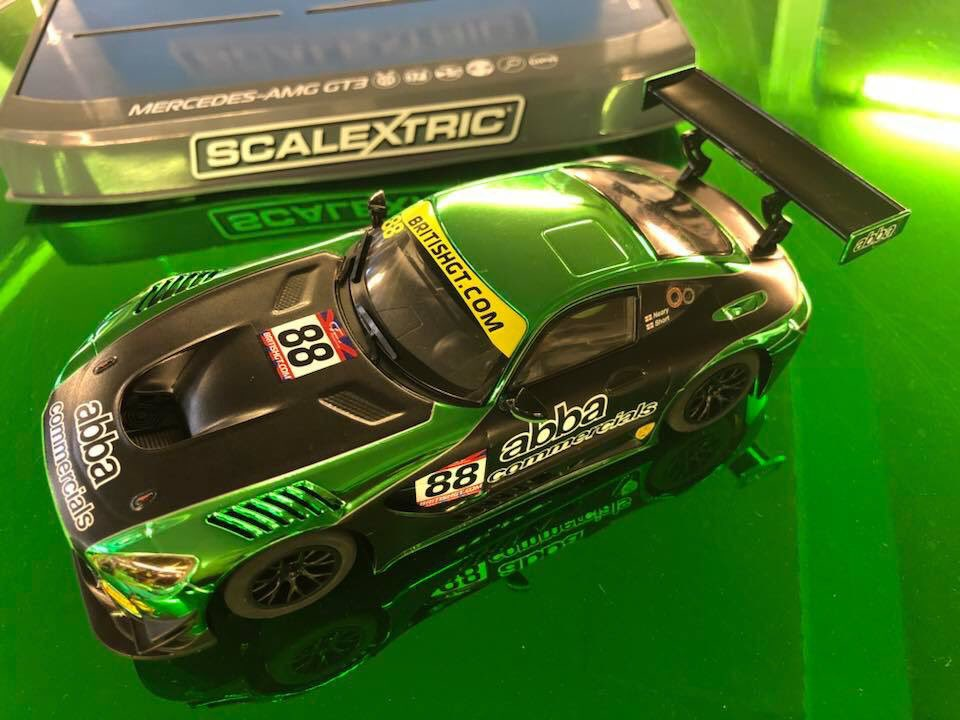 test Twitter Media - ‼️How cool is this‼️Our @AbbaRollcentre @BritishGT @MercedesAMG has been turned into a @Scalextric. 😍😍 My life is complete 😬  #Scalextric #ModelCar #Goals #AMG #AMGGT3 #MercedesAMG #Mercedes #Racing #BritishGT https://t.co/yU0oIteWAt