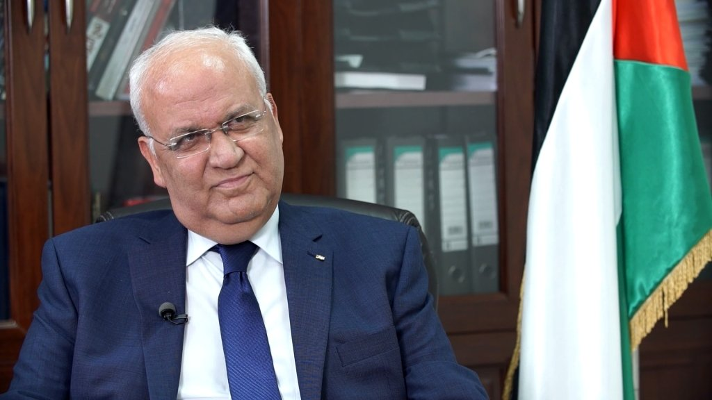 Chief Palestinian negotiator: 'Trump is burying two-state solution'