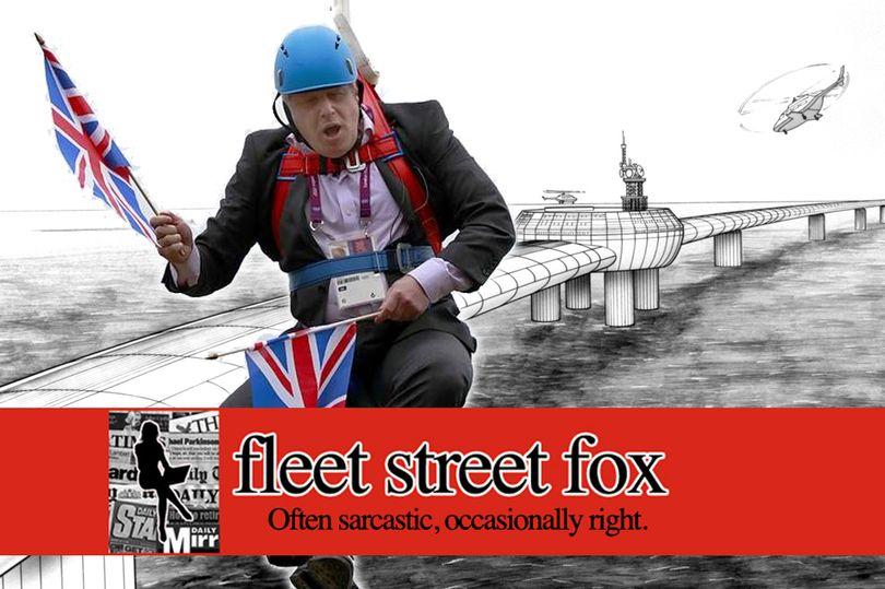 The Boris Bridge is the worst idea mentioned by any politician, ever says @fleetstreetfox https://t.co/8eQC2gdAIq https://t.co/58vcwLZNGV
