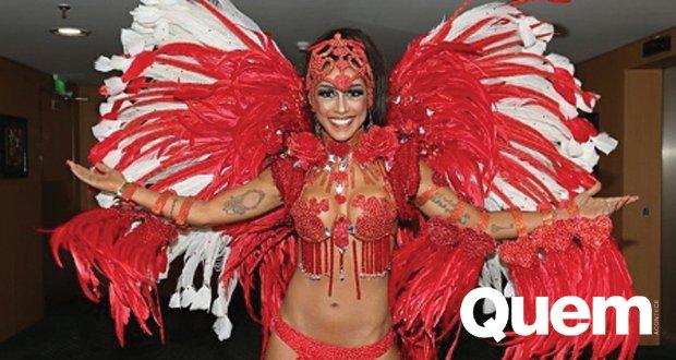 """Amanda Djehdian. Foto do site da Quem Acontece que mostra Amanda Djehdian se prepara para o Carnaval e garante: """"Não faço dietas loucas"""""""