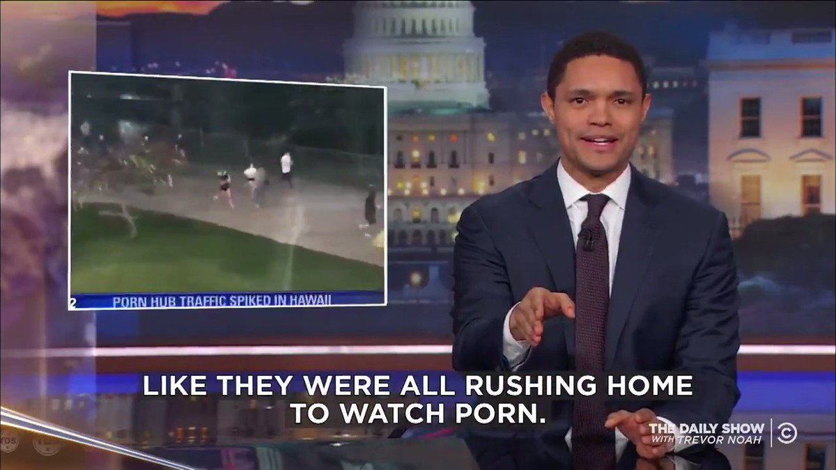 RT @TheDailyShow: Pornhub usage briefly dips, then spikes in Hawaii after the nuclear scare: https://t.co/bqcj7xl5LR