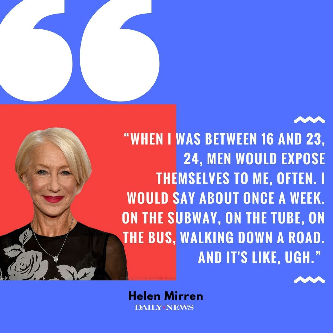 #TimesUp -- Helen Mirren reflects on the times she's experienced sexual harassment https://t.co/GpgWwZhKr7 https://t.co/Gc92I345z1