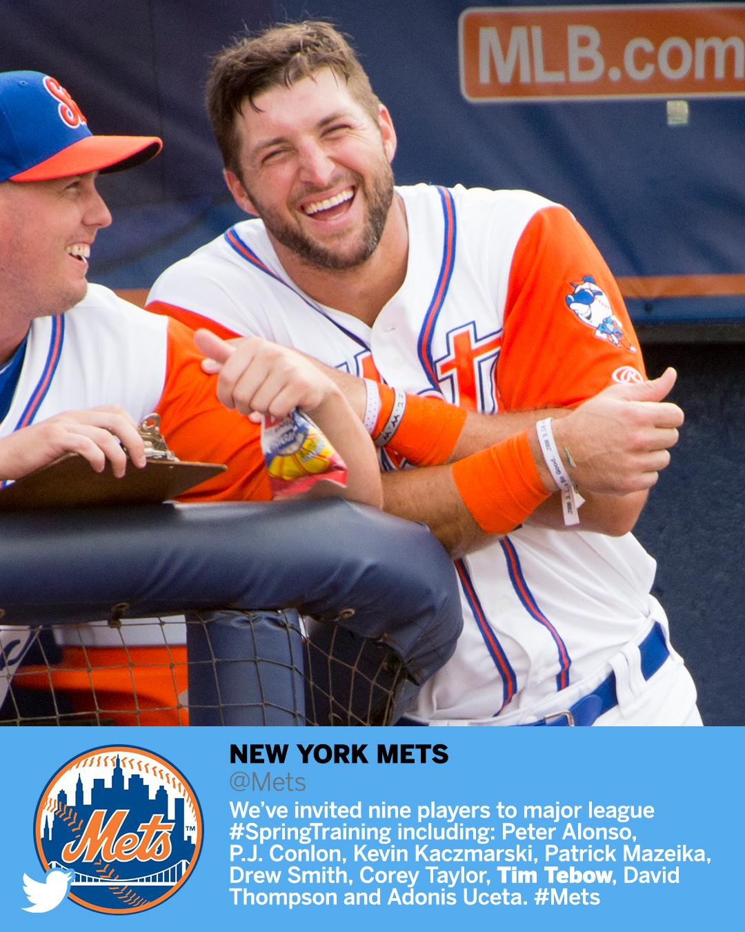 Tim Tebow's heading back to spring training. https://t.co/PEgZ5qt8Lv