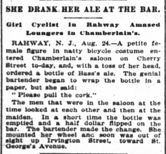 RT @HorribleSanity: We'll never know this woman's name, but I raise my bottle of beer to her. (New York Times, 1896) https://t.co/G1M5VVYLYo