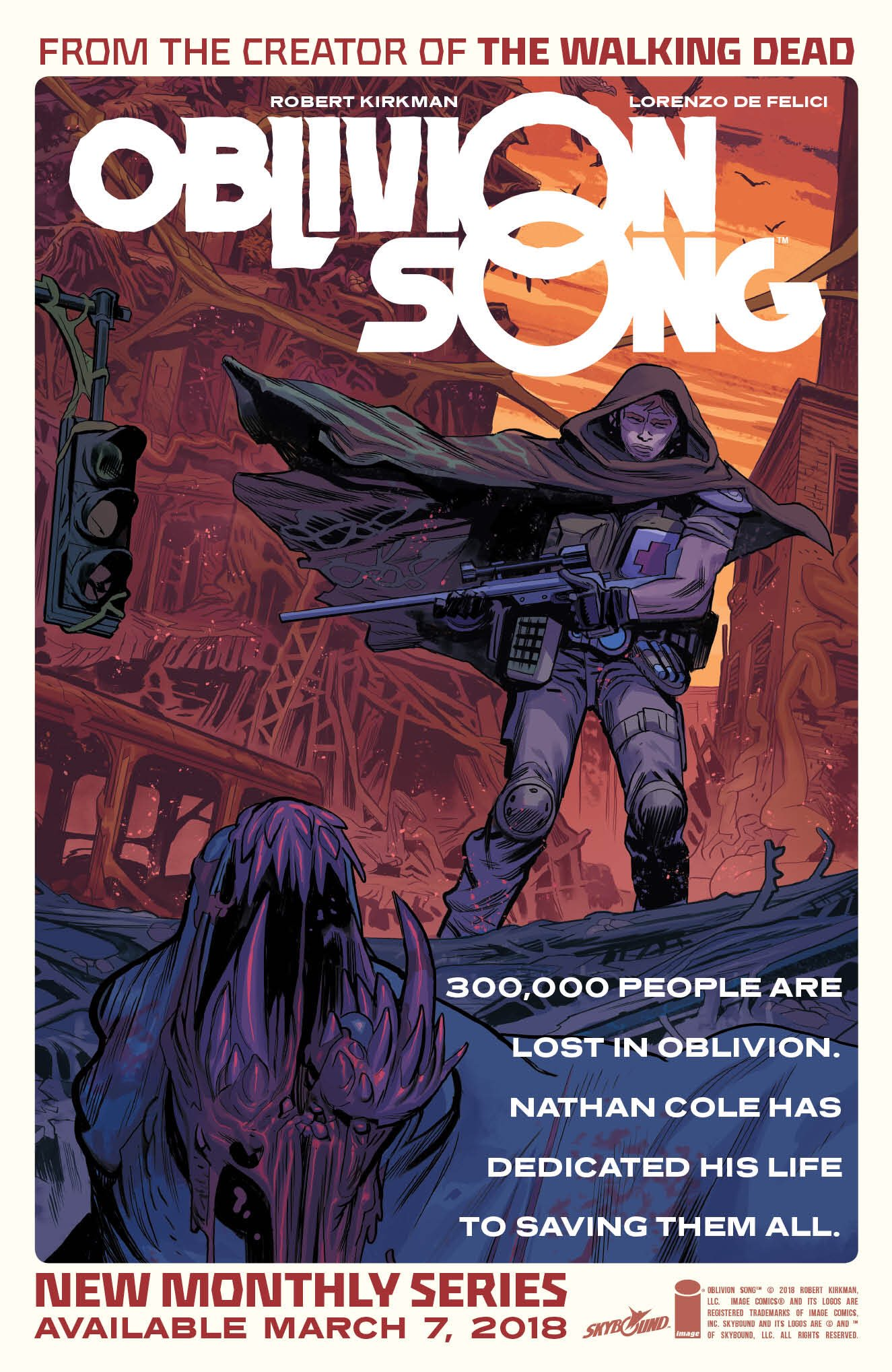 Another glimpse of OBLIVION SONG! Retailers expect a sizeable poster of this to show up in your stores very soon. https://t.co/k7skYkT4Br
