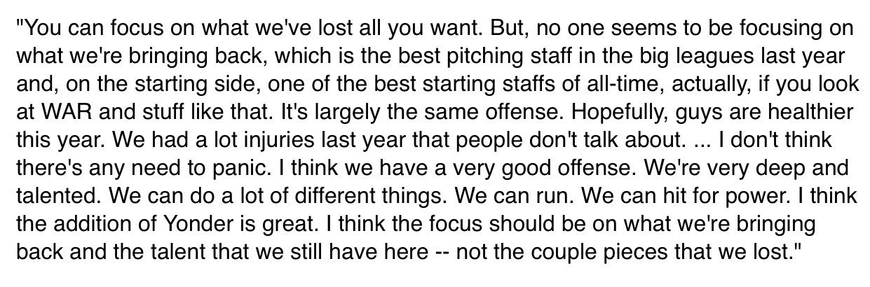Trevor Bauer, on the Indians' offseason and why the team is optimistic about 2018... https://t.co/8O42xDVRv7