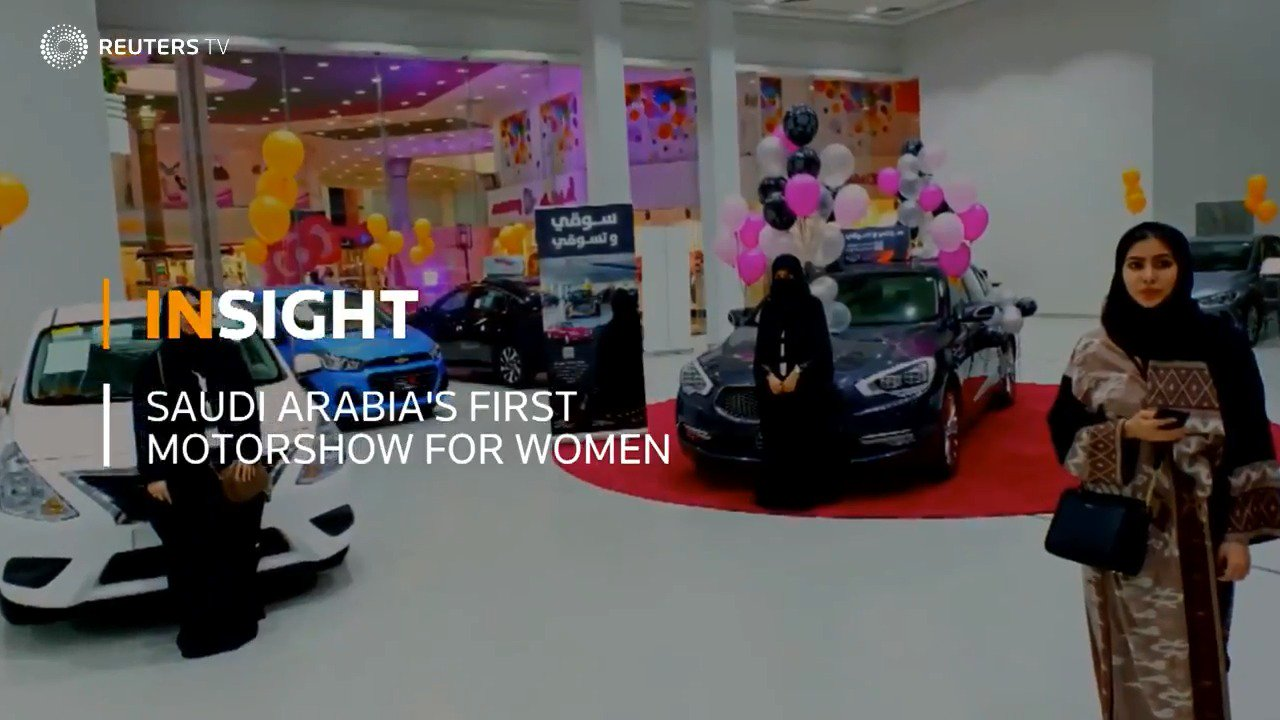 INSIGHT: Saudi Arabia's first motorshow just for women. More from @ReutersTV: https://t.co/2XzYz46uJQ https://t.co/ryalbpuLm8