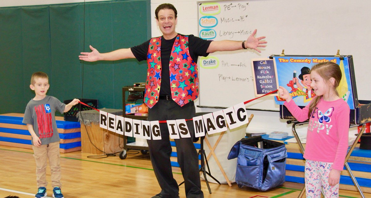 "test Twitter Media - Thank you to the PTO Cultural Arts Comm. members, for inviting Frankie Ace & his engaging and funny ""Reading is Magic"" show to WB today! #d30learns https://t.co/wjOdD423uE https://t.co/v0mV5G8NDh"