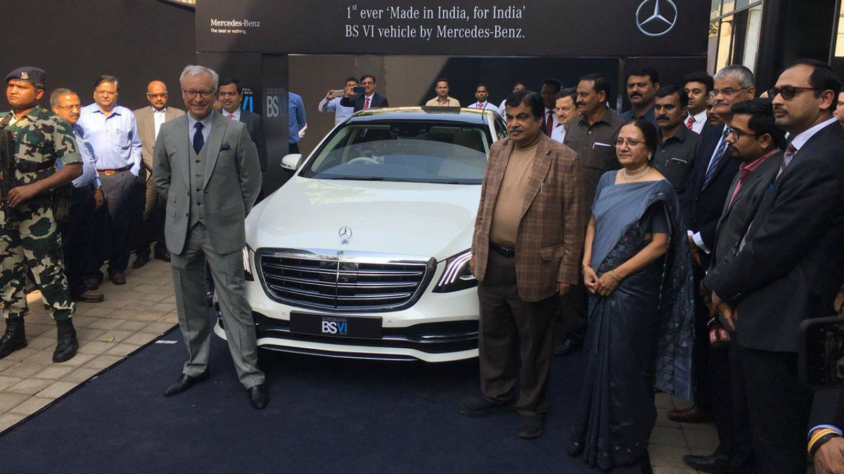 Mercedes-Benz becomes first to launch BS-VI compliant car