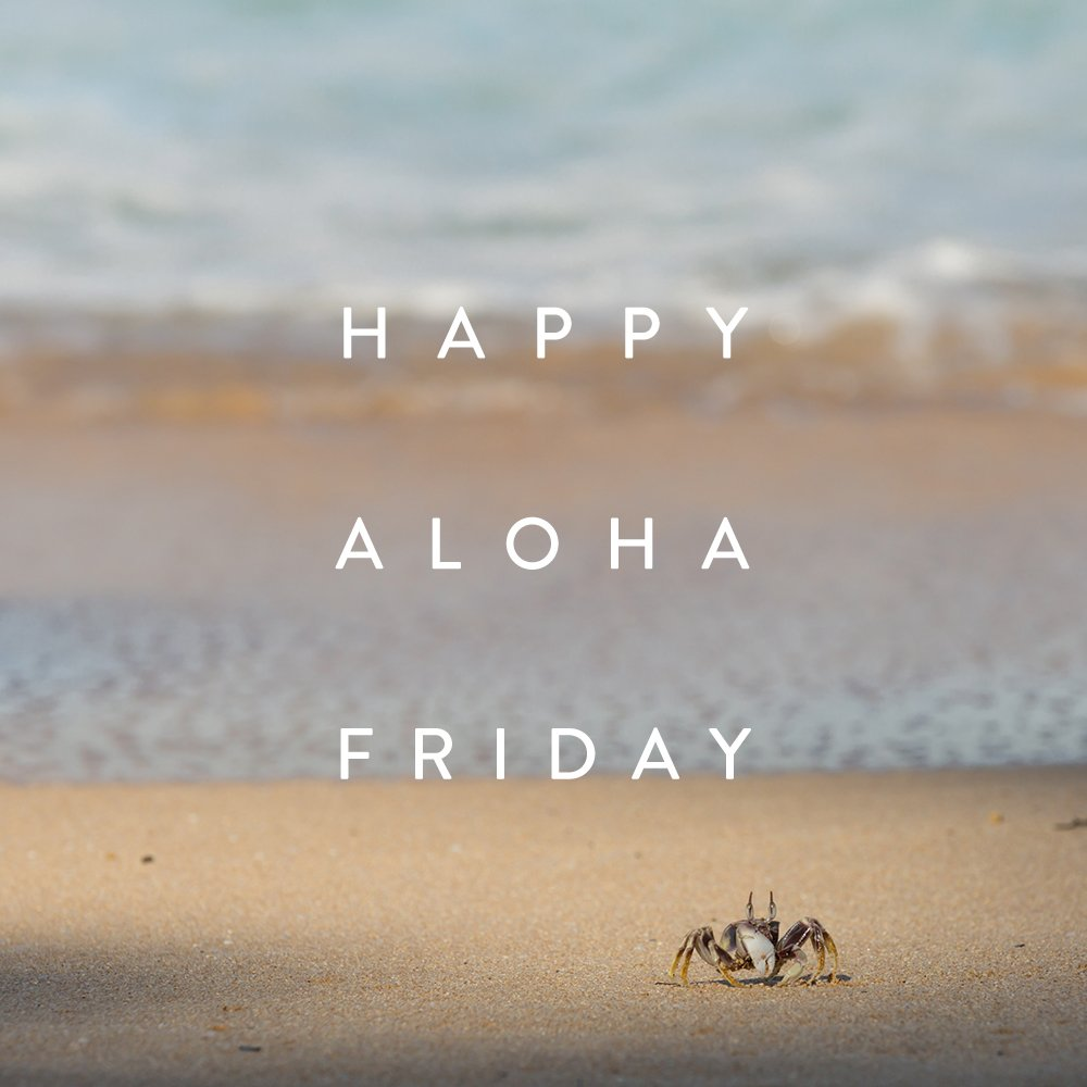 #AlohaFriday
