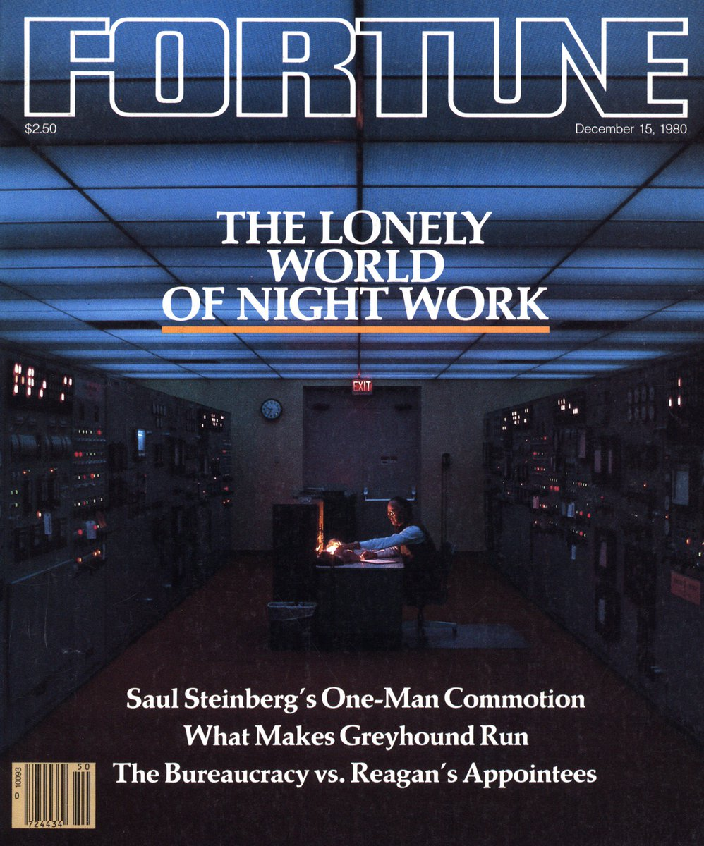 "test Twitter Media - Fatigue, inefficiency, and ""gastrointestinal complaints abound"" for workers who work the night shift, ""the last frontier"" of business, per this Dec. 1980 issue of @FortuneMagazine. And that's before the consumer Internet came along. #FridayFortune https://t.co/2Am7cBrnXv"