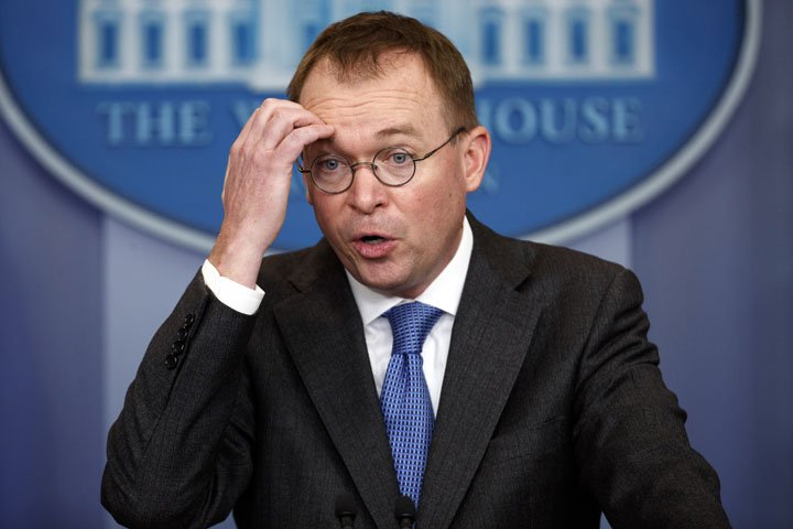 @BroadcastImagem: Diretor da Casa Branca, Mick Mulvaney, acusa democratas de usarem teto da dívida como arma. Evan Vucci/AP