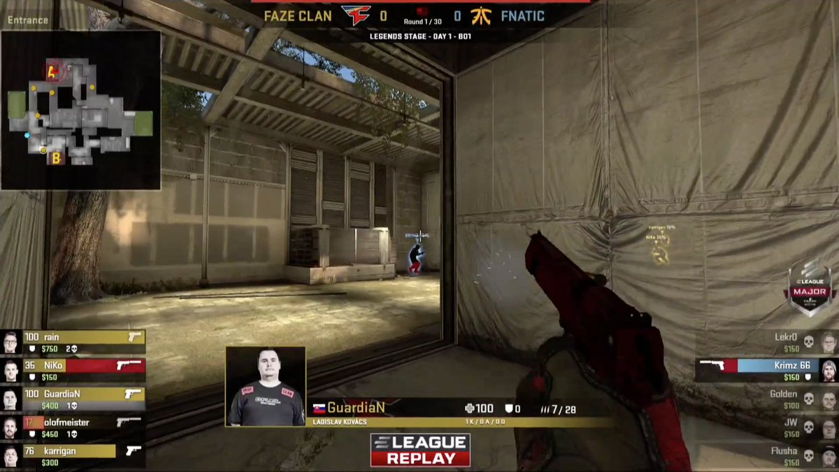Our's first match of Group Play at the 2018 @ELEAGUETV Major is now live! Click here to watch FaZe Clan vs Fnatic:  📺 - https://t.co/QCypP0Wd90 #FaZeUp https://t.co/2zJ8lgFqWx