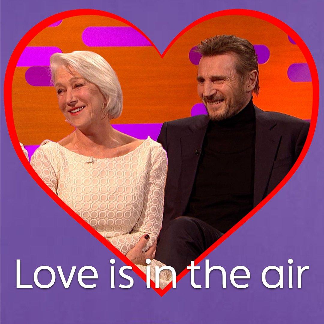 When Liam Neeson met Helen Mirren it was love at first sight. �� #TheGNShow https://t.co/KtBCECqZMB