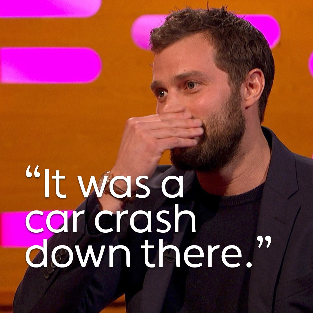 The time Jamie Dornan put a stick-on beard somewhere he shouldn't. ��  #TheGNShow. Tonight, 10.35pm. @BBCOne. https://t.co/QcZE1eRC8P