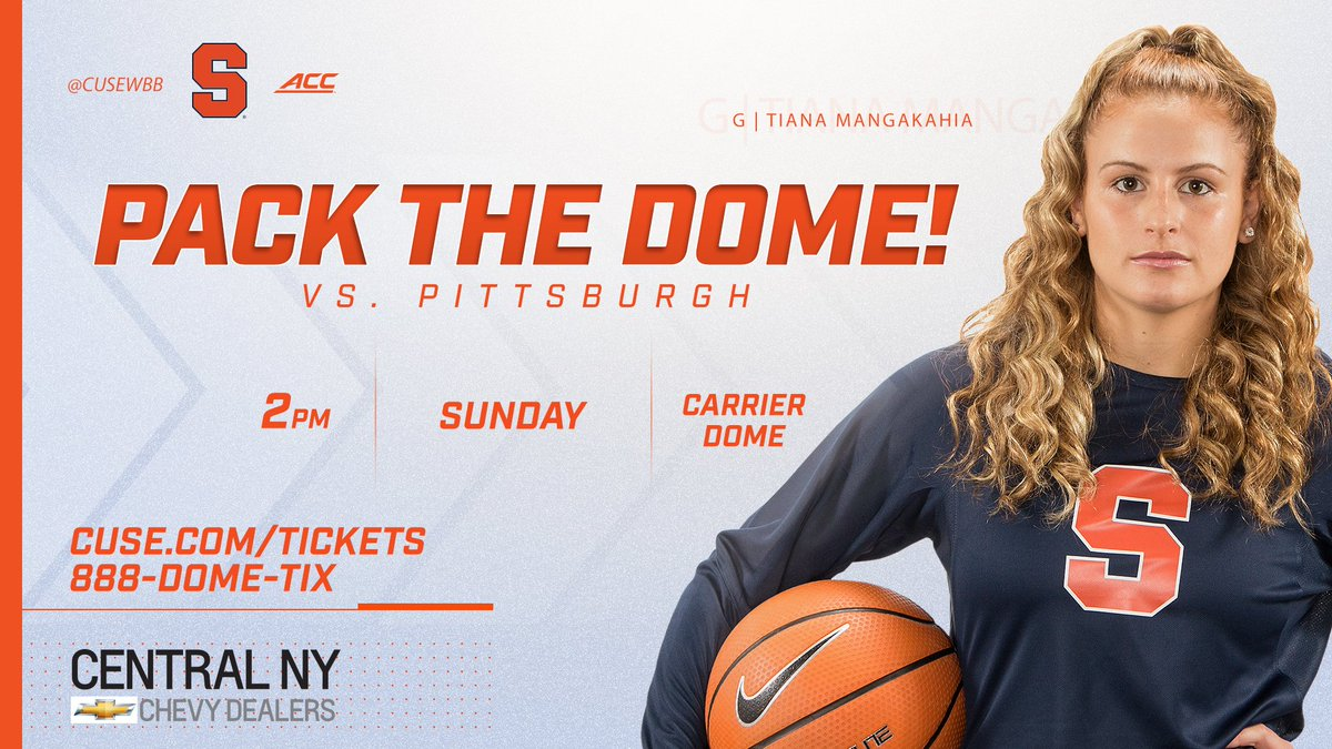 RT @Cuse: Pack the Dome on Sunday as @CuseWBB looks to break its attendance record!  🎟️ https://t.co/2gEoN0Xvu5 https://t.co/ZBpcBub4Ia