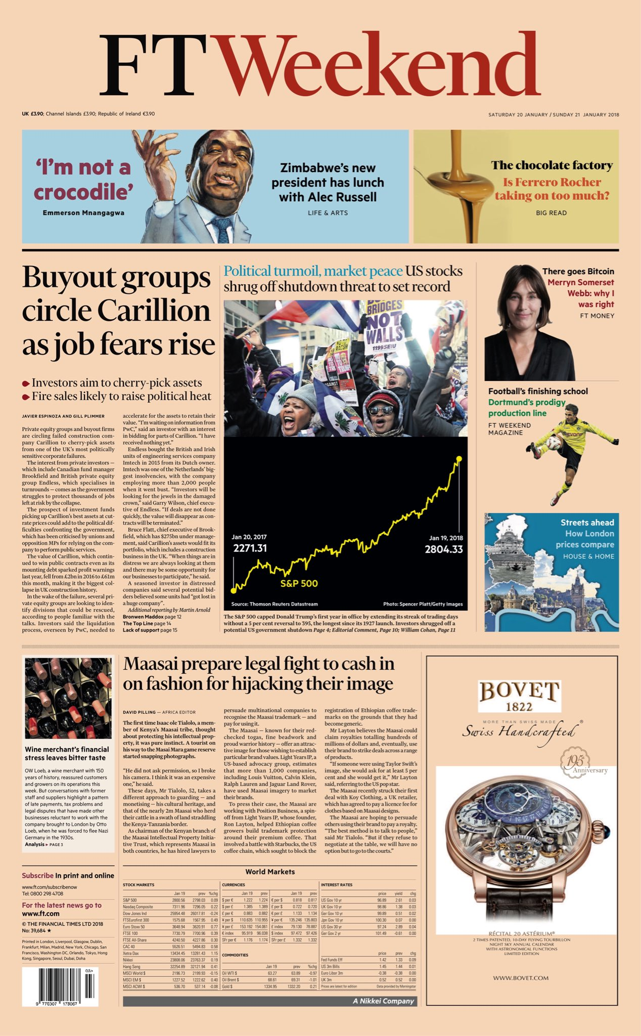 "FT Weekend: ""Buyout groups circle Carillion as job fears rise"" #bbcpapers #tomorrowspaperstoday https://t.co/WzbO2L3VQF"