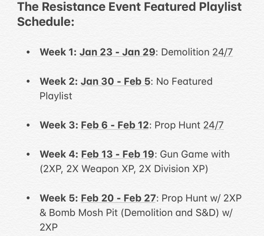 Here's the schedule for the Featured Playlists during The Resistance event. More info: https://t.co/sxZJvXJmqE https://t.co/VI6HMhcfPO