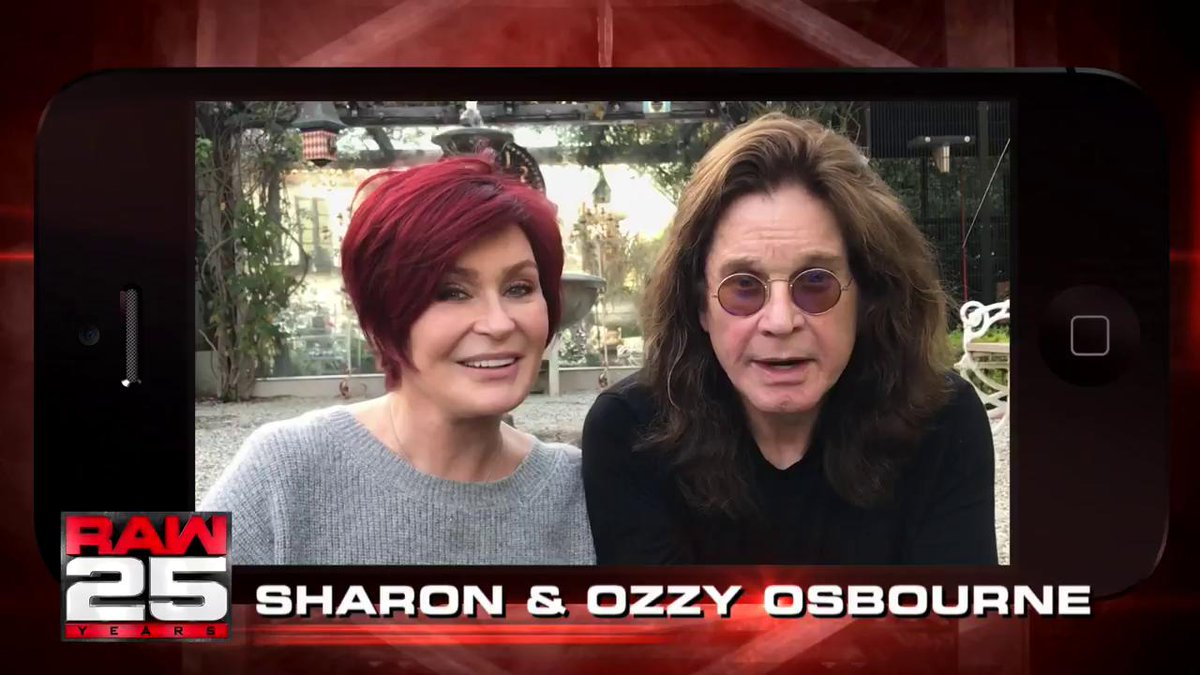 RT @WWE: .@OzzyOsbourne and @MrsSOsbourne​ have got two words for #RAW​... Happy Anniversary!!! https://t.co/nyMyW5gDb9