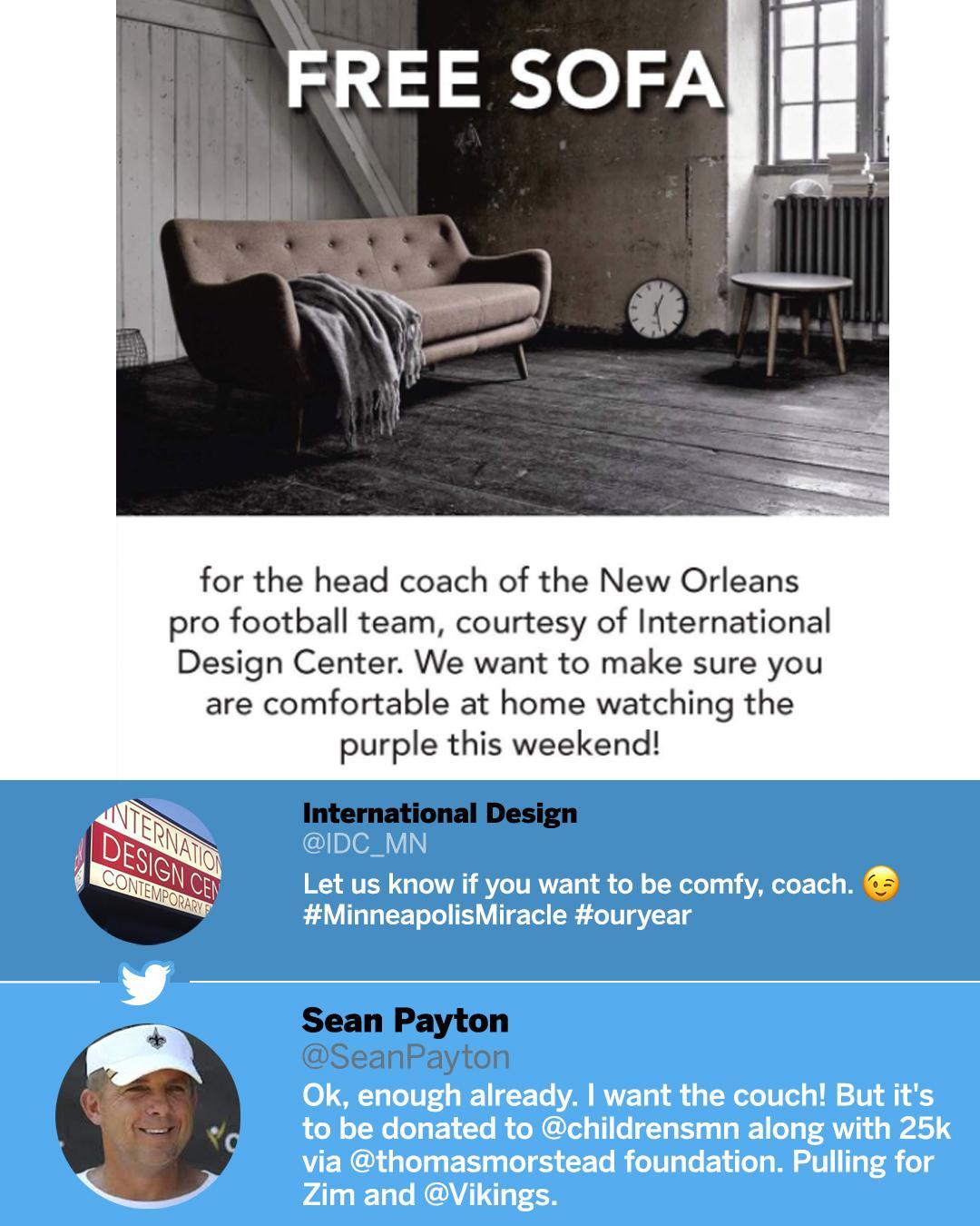 Keep offering Sean Payton free stuff. https://t.co/SjpPdHnVnY